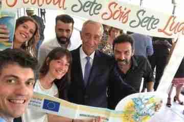 Il Presidente della Repubblica del Portogallo  riceve il Festival Sete Sóis Sete Luas a Lisbona  al Palazzo Presidenziale