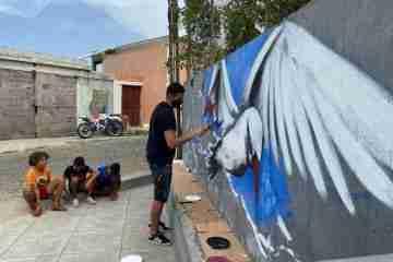 Tutú Sousa na ilha de La Réunion e os street artist do Luxemburgo Gindt e Mac Lloyd em Cabo Verde