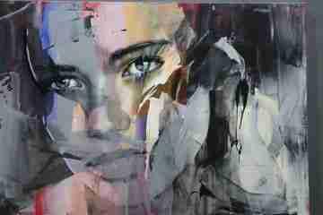 Música da alma e rostos femininos nas pinturas  de pier toffoletti no centrum sete sóis / cac de ponte de sor