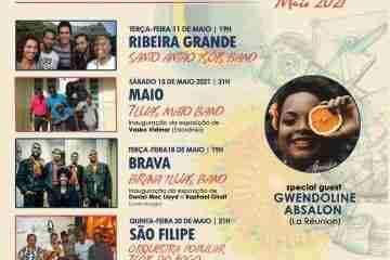 As músicas kreolas da ilha de La Réunion e de Cabo Verde encontram-se nos Centrum Sete Sóis Sete Luas