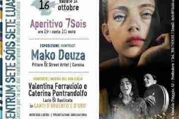 Aperitivo musicale al Centrum Sete Sóis Sete Luas con il pittore Mako Deuza